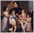 Napoléon con sus hijos